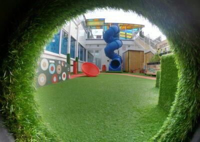 nursery side garden tunnel view